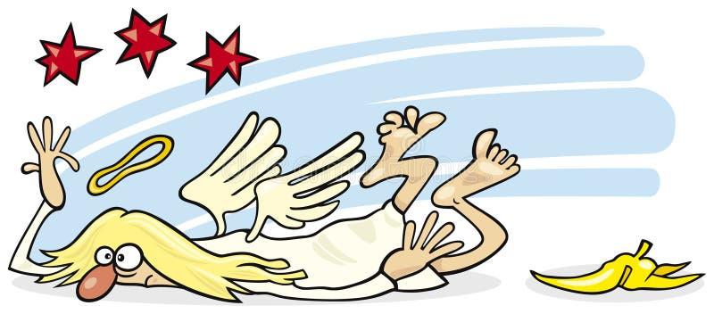 anioł spadać royalty ilustracja