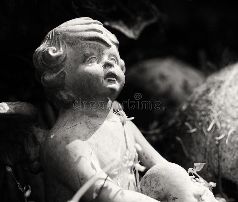 Anioł w ogródzie zdjęcia stock