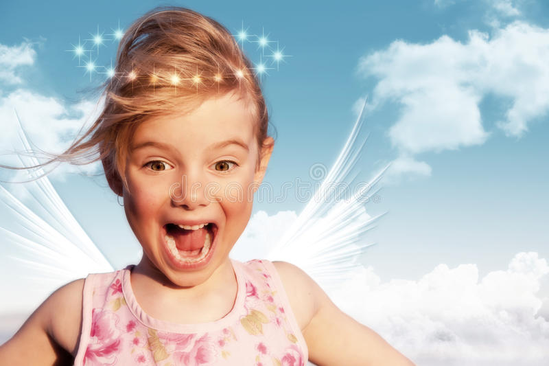 anioł zaskakujący obraz royalty free