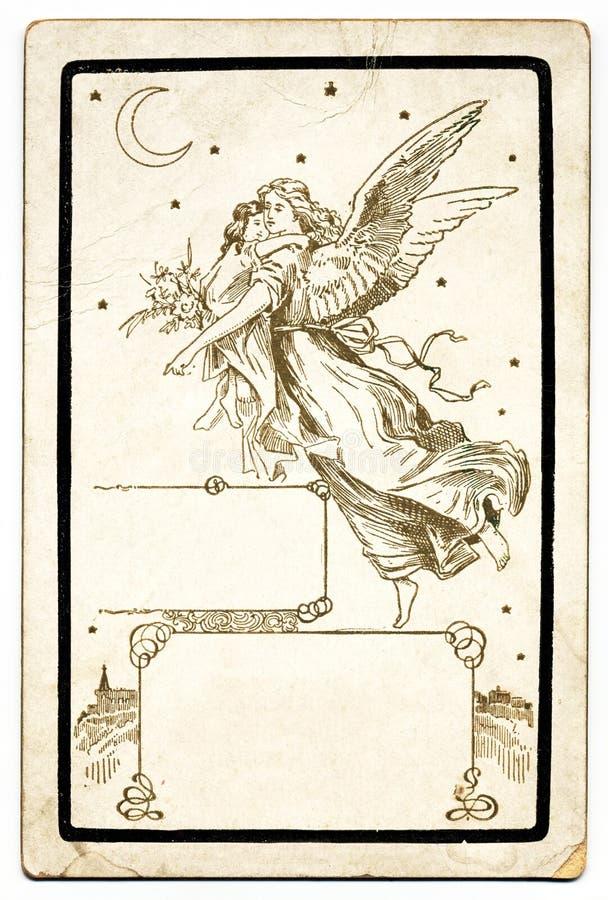 anioła antyka karta ilustracji