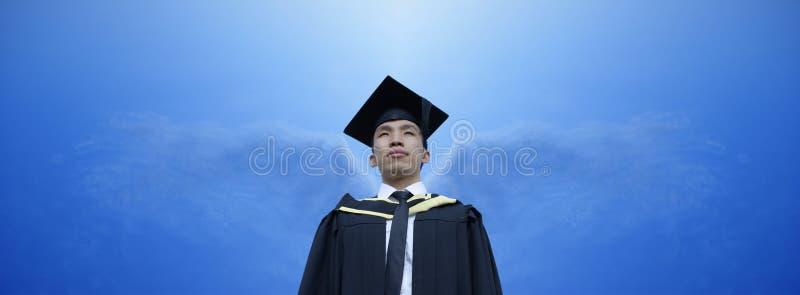 anioła azjata absolwenta skrzydła zdjęcia royalty free