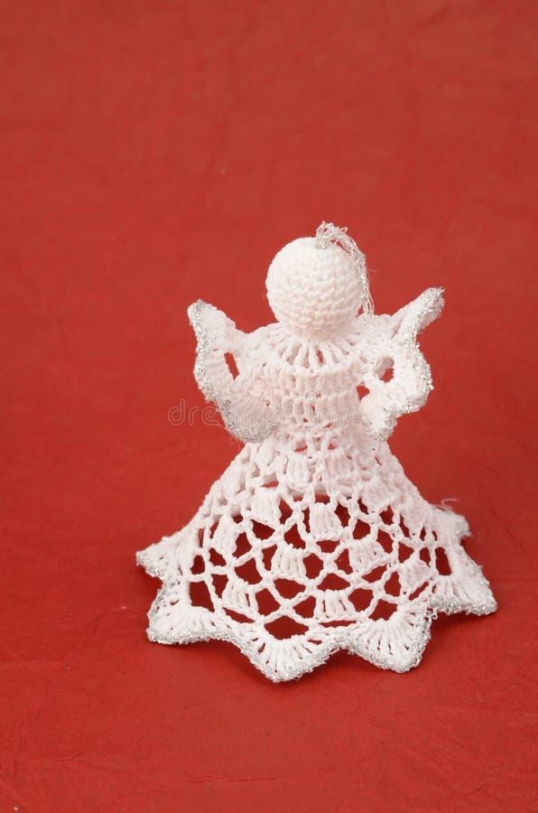 anioła backgroun bożych narodzeń czerwień ornamentu czerwień zdjęcie royalty free