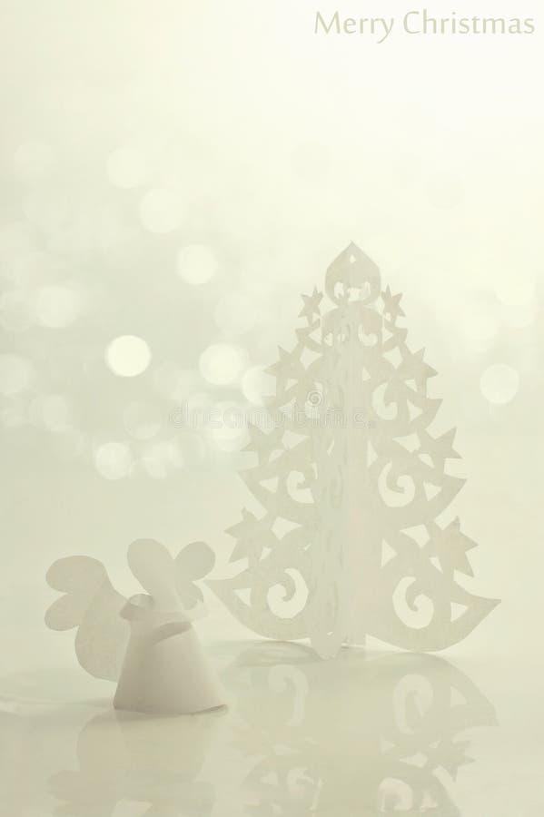 anioła bożych narodzeń drzewo obrazy royalty free