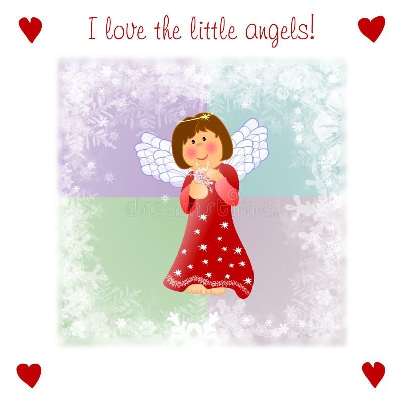 anioła bożych narodzeń illustrationwith miły mały bardzo ilustracja wektor