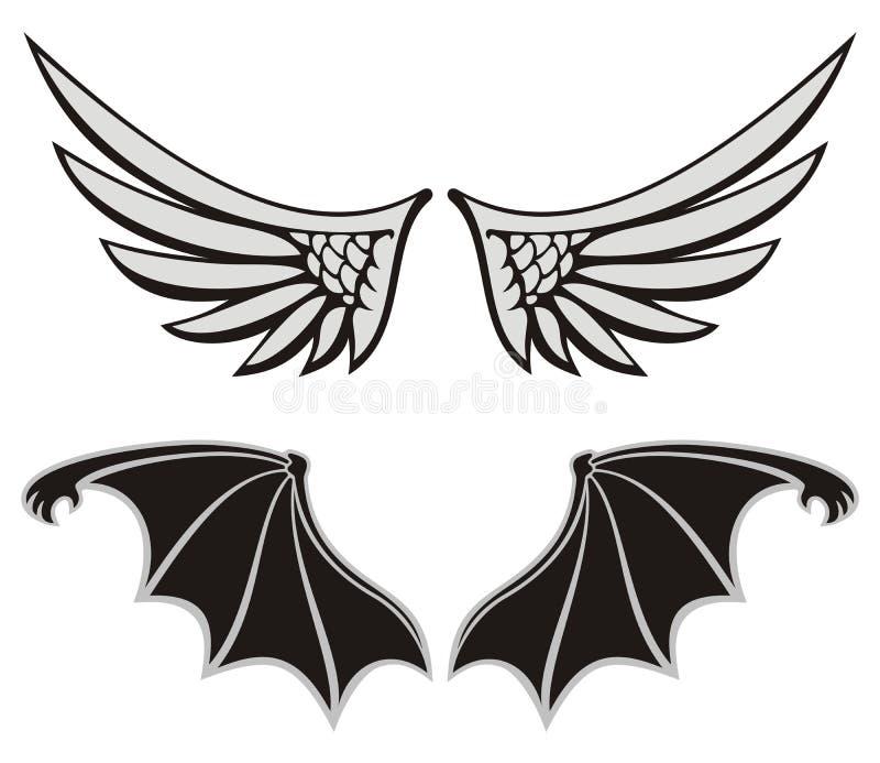 anioła diabeł ilustracji
