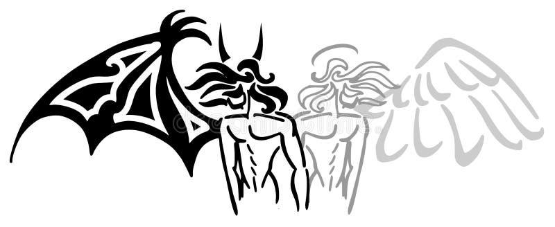 anioła diabeł royalty ilustracja