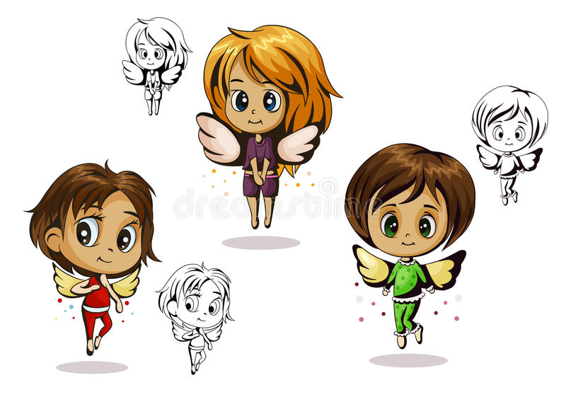 Anioła dziecko ilustracji