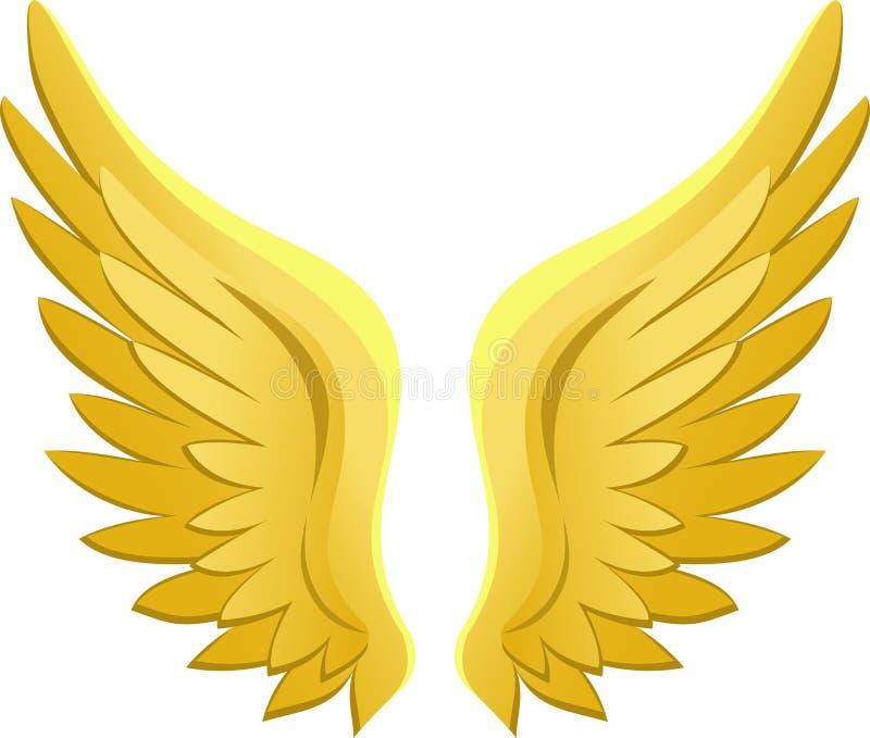 anioła eps złoci skrzydła royalty ilustracja