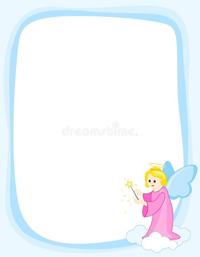 anioła granicy rama royalty ilustracja