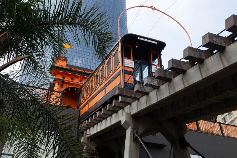 Anioła lota Funicular kolej zdjęcie royalty free