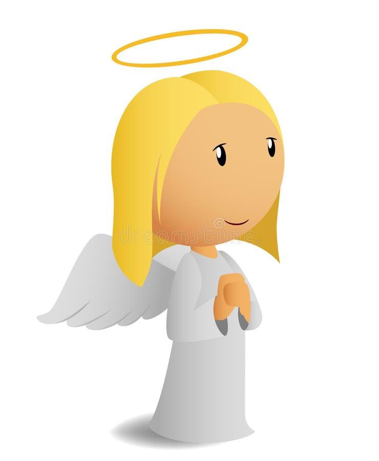anioła modlenie ilustracja wektor