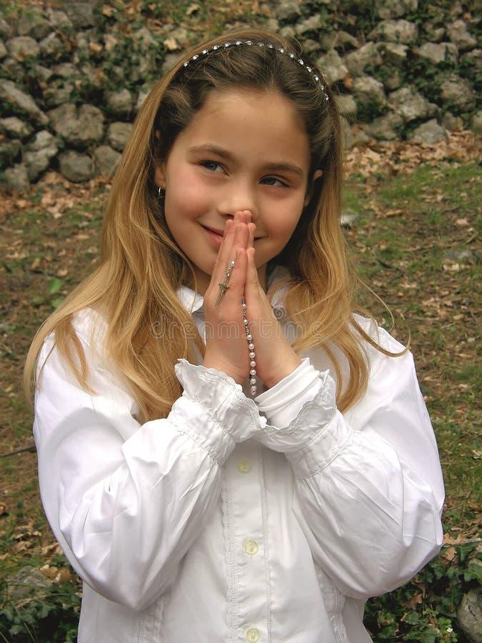anioła modlitwy różaniec obraz stock