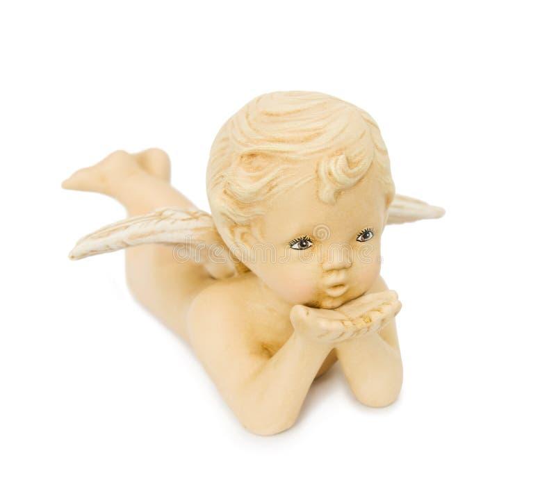 anioła podmuchowi amorka buziaki zdjęcie stock