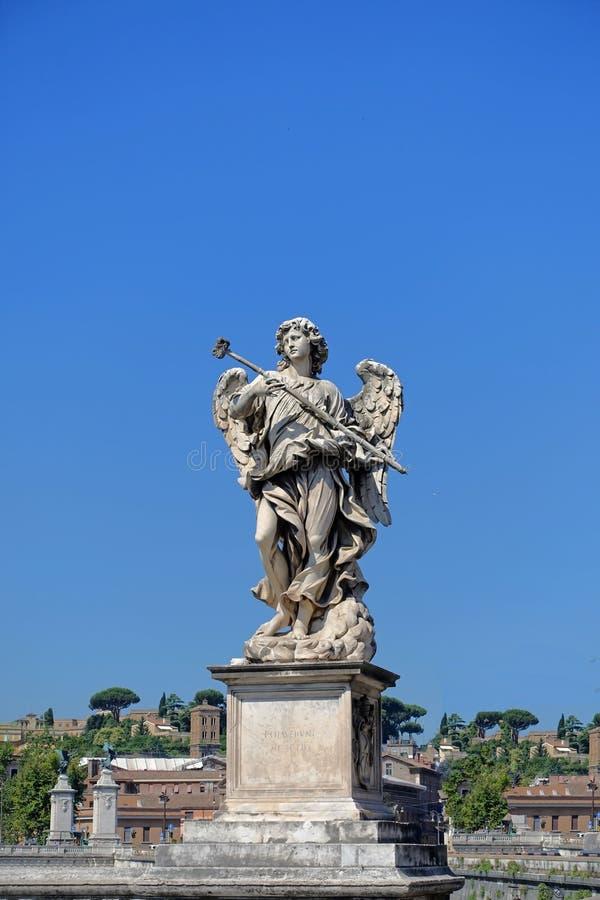 Anioła ponte castel sant Angelo obraz royalty free