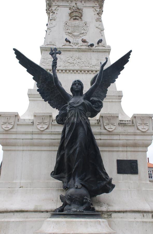 anioła przecinająca Portugal statua fotografia stock