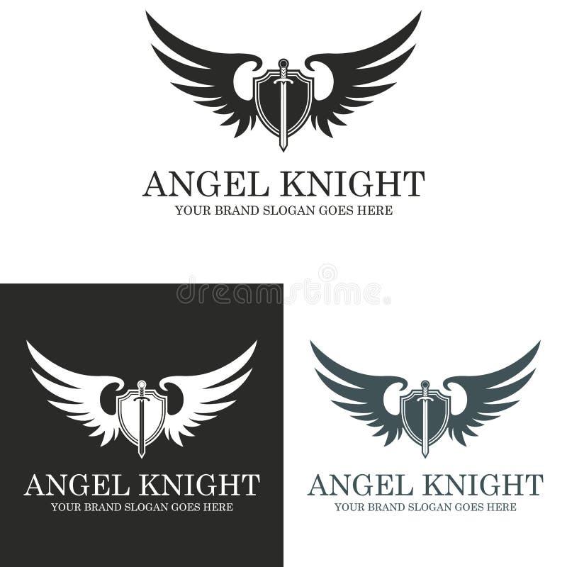 Anioła rycerz royalty ilustracja