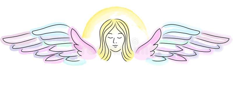 anioła sztandaru opiekun ilustracja wektor