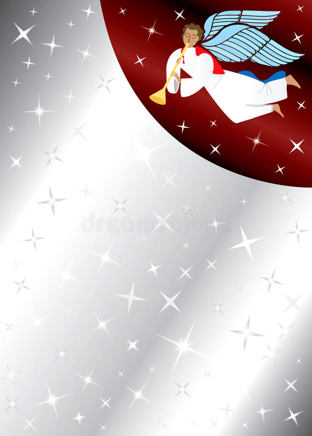 anioła tła gwiazdy ilustracja wektor