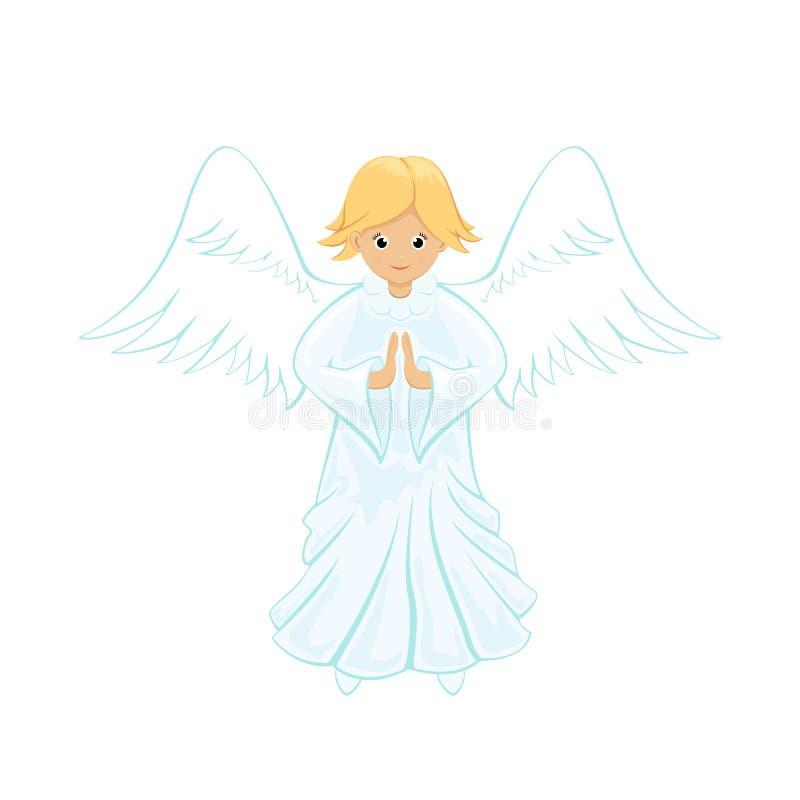 anioła tła zakończenie w górę biel ilustracja wektor