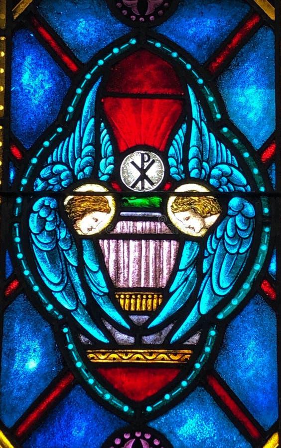 Anioła ukwiecenia ołtarz i Święta komunia ilustracja wektor