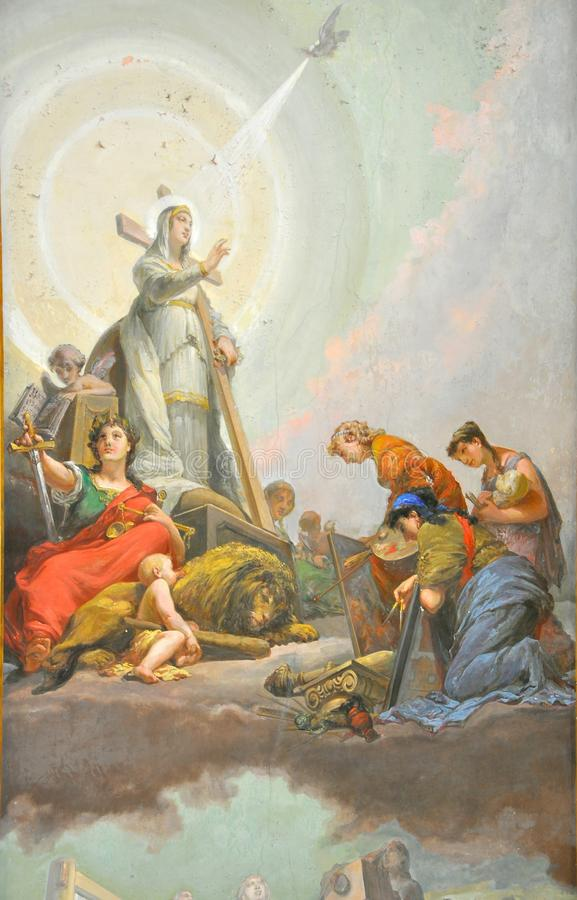aniołowie kościelni wśrodku Italy obrazu zdjęcie stock
