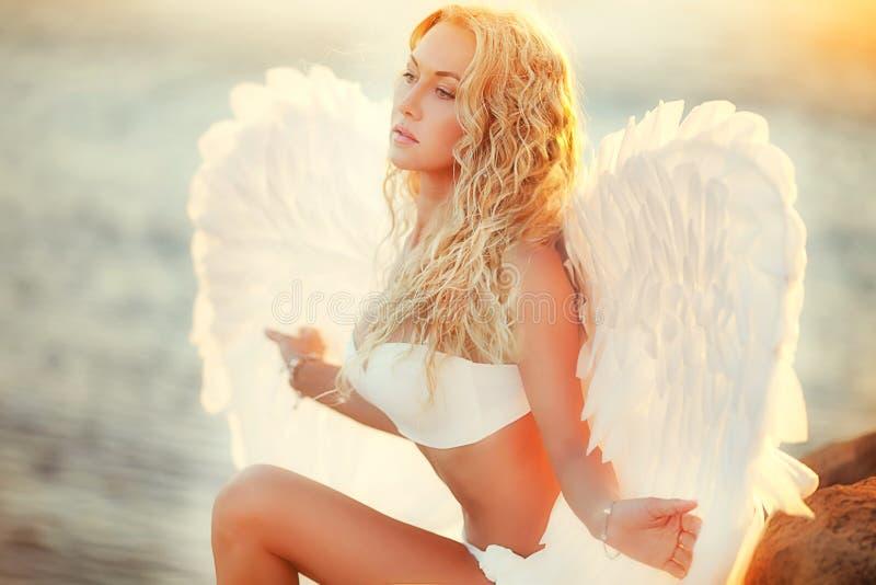 Aniołowie na plaży fotografia royalty free
