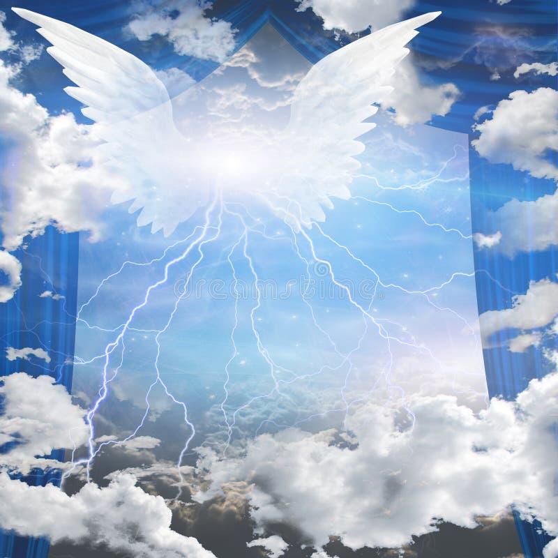Aniołowie oskrzydleni ilustracja wektor
