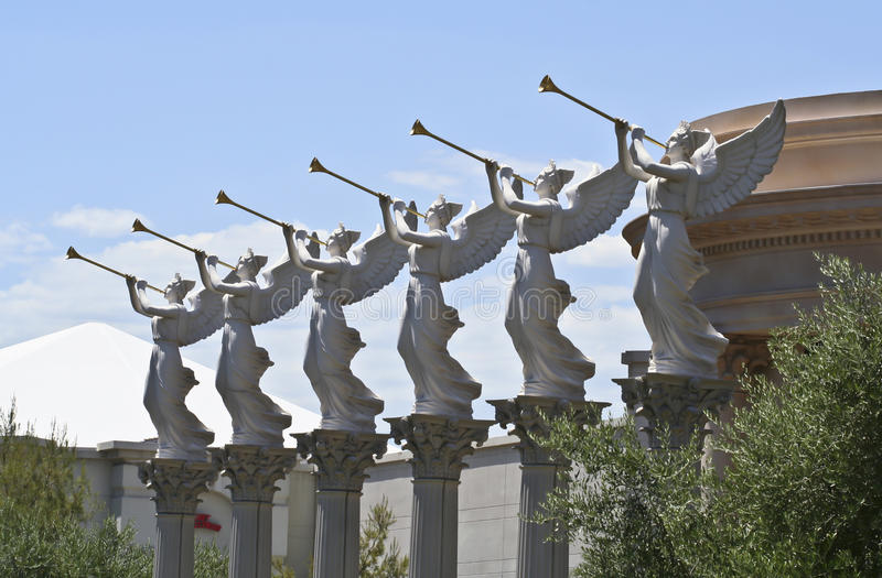 aniołowie target2309_1_ caesars pałac trąbki fotografia royalty free