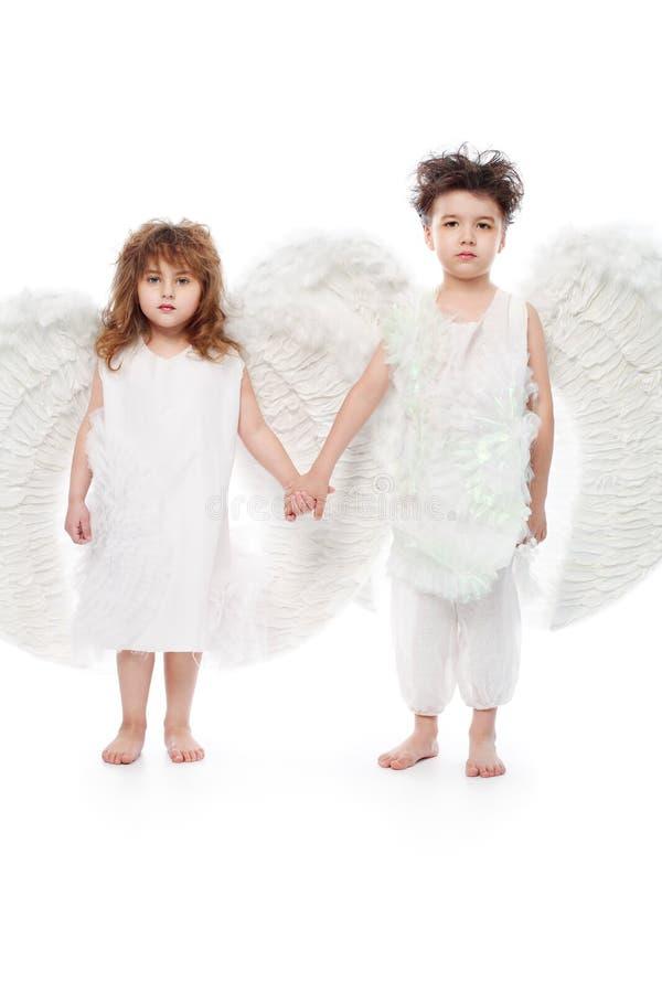 Download Aniołowie dwa zdjęcie stock. Obraz złożonej z chłopiec - 12901432