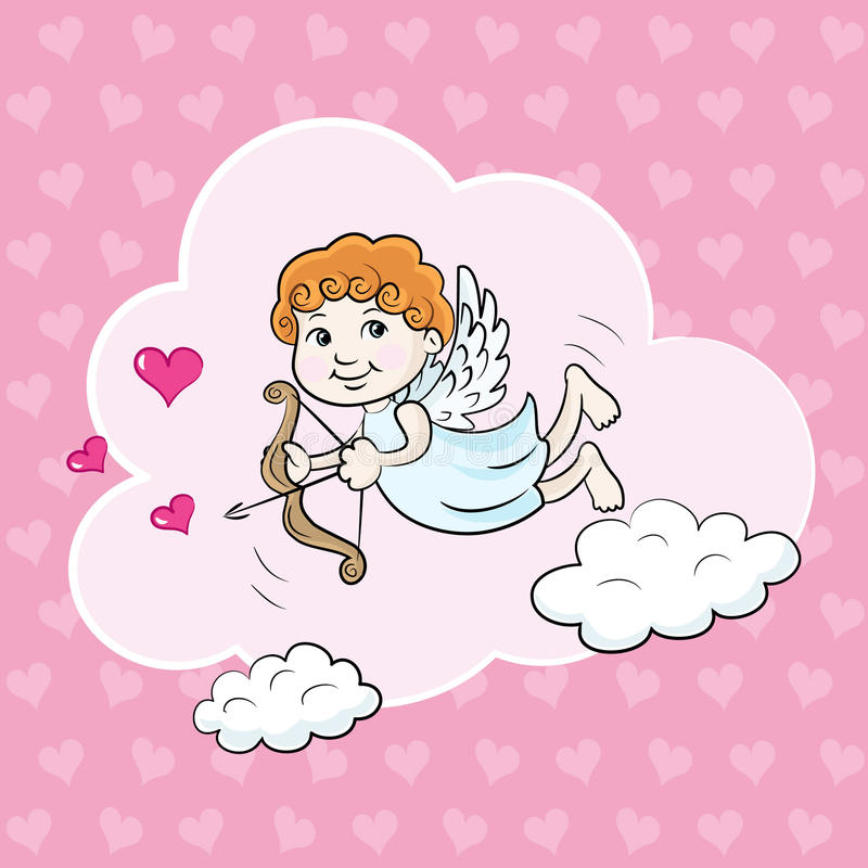 Download Anioł w chmurach ilustracji. Ilustracja złożonej z heart - 28951539