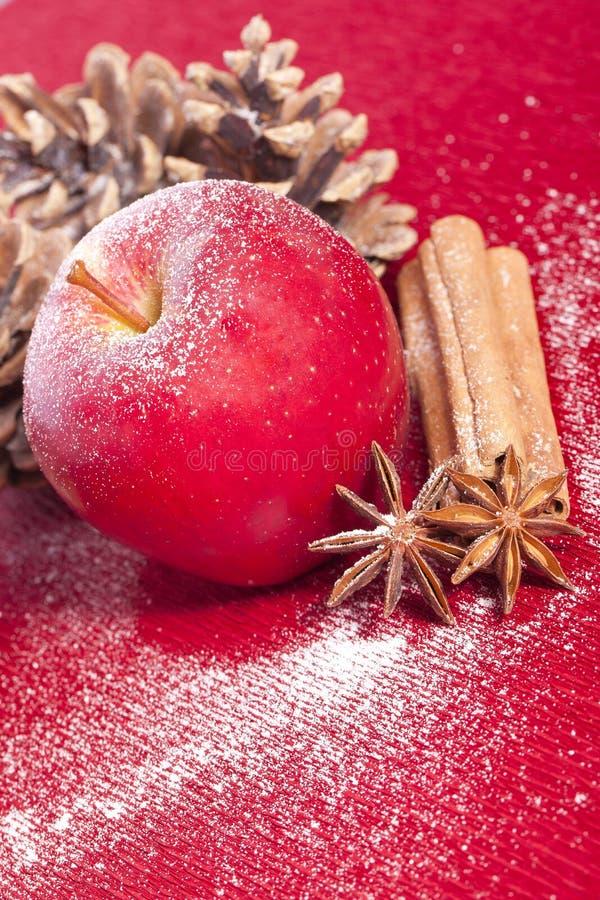 Anis et cannelle de pomme de Noël image stock