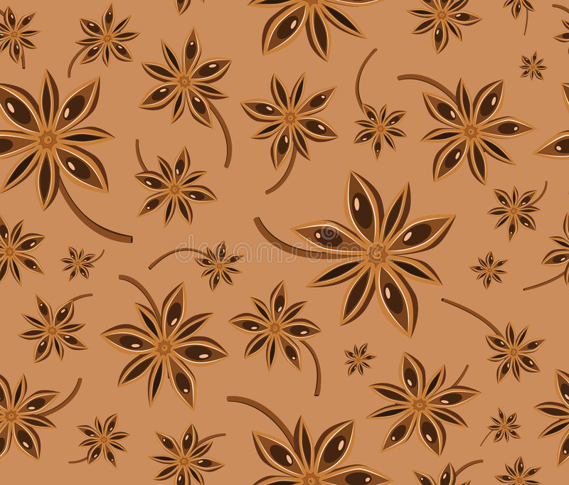 Anise seamless background pattern stock illustration