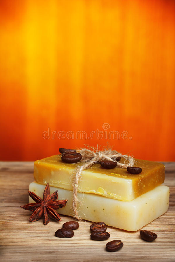 Anise star and soap stock photography