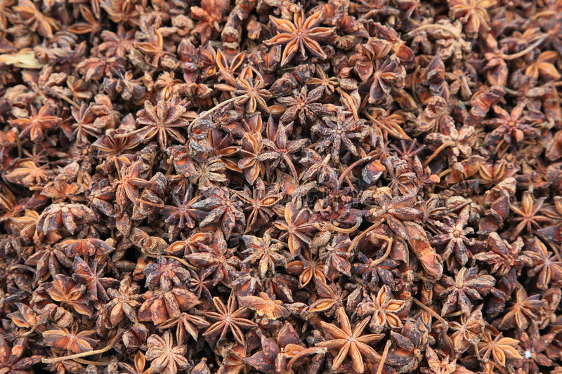 Aniseed. Herbs and spices - aniseed in a market stock photography