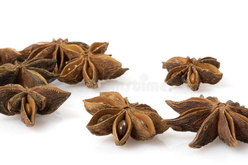 Aniseed. Isolated over a white background royalty free stock photography