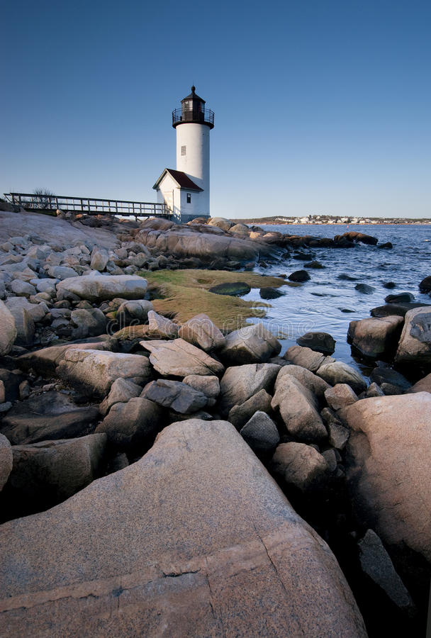 Free Anisquam Lighthouse At Dawn Royalty Free Stock Photography - 14023907