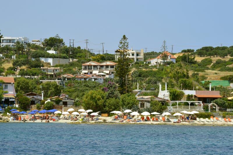 Anissarasstrand in Kreta stock foto