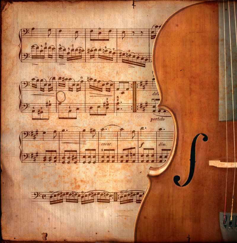 Anitique cello stock image