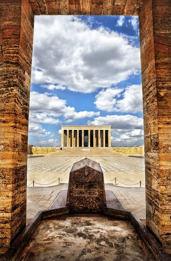Anitkabir -阿塔图尔克,安卡拉,土耳其陵墓  免版税图库摄影