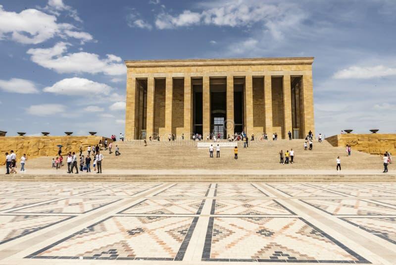 Anitkabir, el mausoleo del fundador Mustafa Kemal Ataturk de Turquía fotografía de archivo