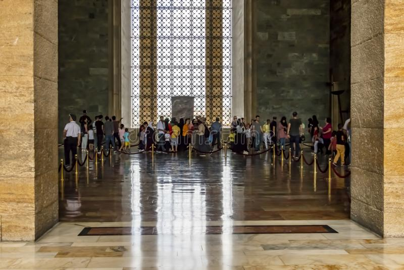Anitkabir, el mausoleo del fundador Mustafa Kemal Ataturk de Turquía fotos de archivo