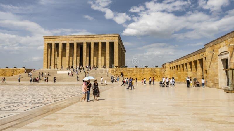Anitkabir, el mausoleo del fundador Mustafa Kemal Ataturk de Turquía imagen de archivo