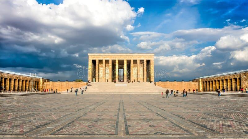 Anitkabir, het Ataturk-Mausoleum in Ankara Turkije stock foto