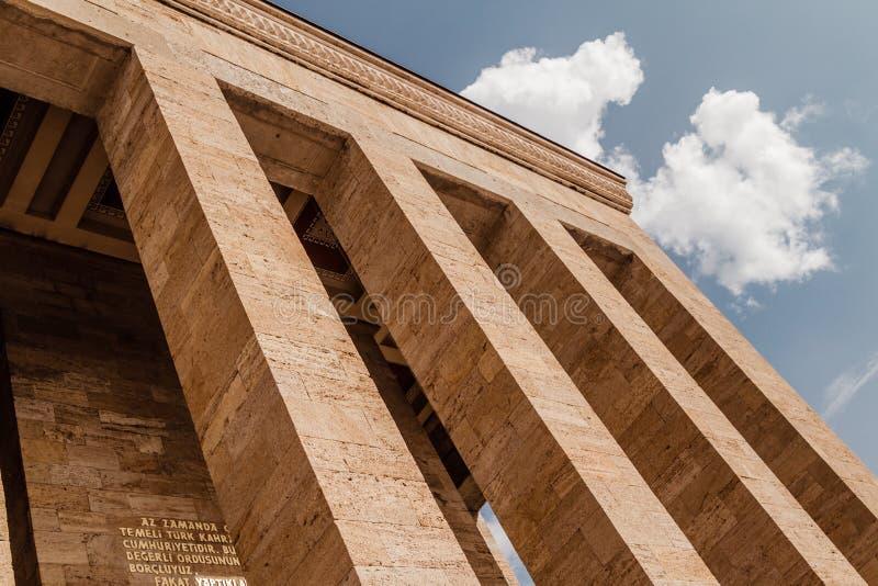 Anitkabir, mausoleo de Mustafa Kemal Ataturk, el fundador del th imagen de archivo