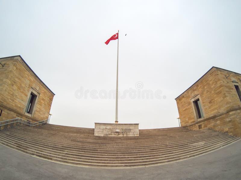 Anitkabir - Mausoleum van Ataturk, Ankara Turkije stock foto's