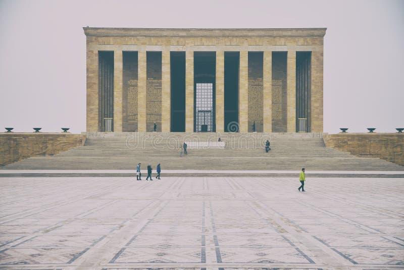 Anitkabir - Mausoleum van Ataturk, Ankara Turkije royalty-vrije stock afbeeldingen