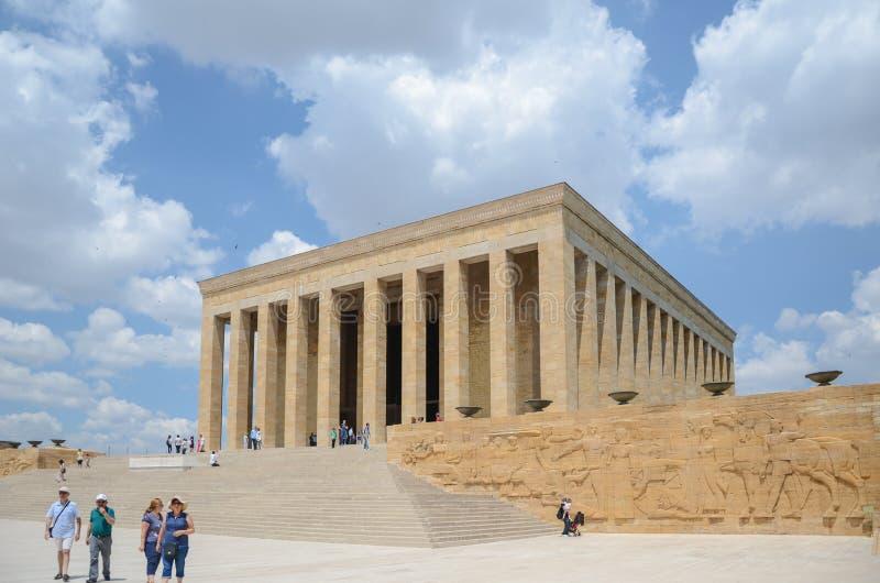 Anitkabir - Mausoleum van Ataturk, Ankara Turkije stock afbeeldingen