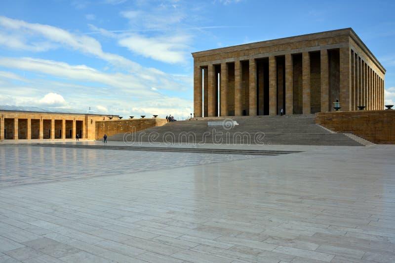 Anitkabir, mausoleum van Ataturk, Ankara, Turkije stock foto's