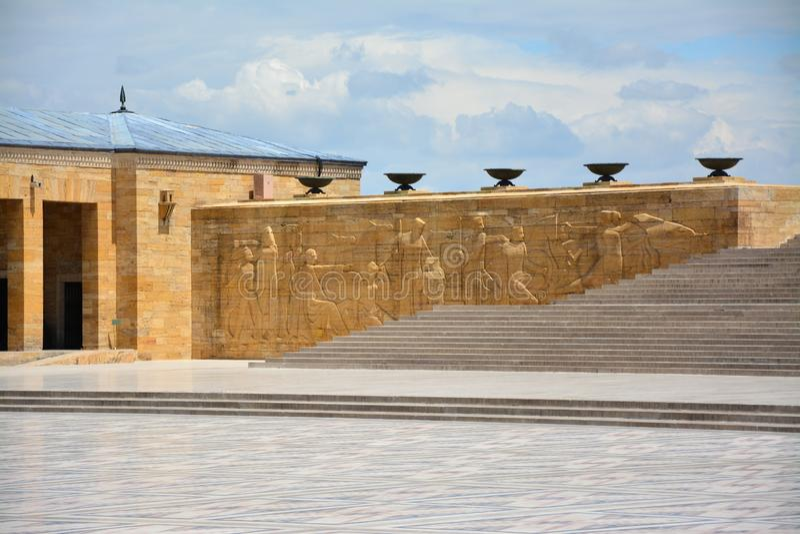 Anitkabir, mausoleum van Ataturk, Ankara, Turkije royalty-vrije stock foto