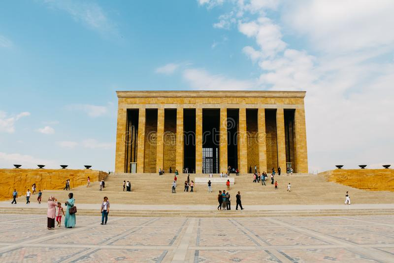 Anitkabir mauzoleum Ataturk w Ankara, Turcja fotografia royalty free